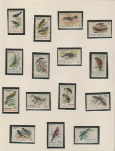 NORFOLK ISLAND  BIRD SET  1970