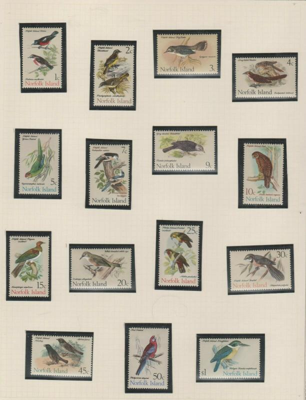 NORFOLK ISLAND  BIRD SET  1970