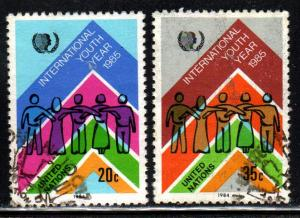 United Nations # 441-42 ~ Cplt Set 2  ~ Used (cto) ~ cv 1.45