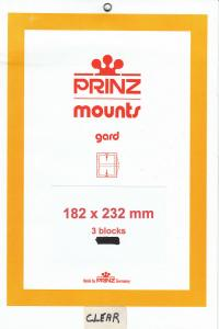 PRINZ CLEAR MOUNTS 182X232 (3) RETAIL PRICE $10.50