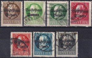 Bavaria #136-42  F-VF Used  CV $14.00  (V5117)
