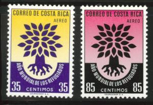 Costa Rica Scott C290-1 MH* WRY airmail  1960 set