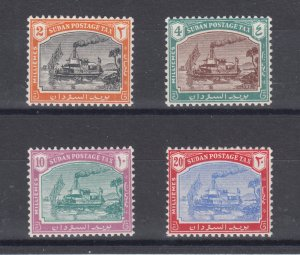 Sudan Sc J12-J15 MNH. 1948 Steamboat on the Nile Postage Dues, complete set, VF