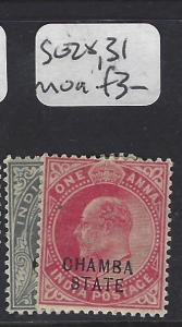 INDIA  CHAMBA   (PP0707B)  KE  3P, 1A  SG 28, 31   MOG