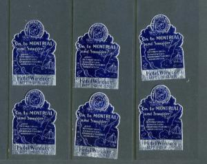 6 VINTAGE 1930 INTERNATIONAL CONVENTION CANADIAN FISHERIES POSTER STAMPS (L538)