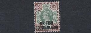 BECHUANALAND 1891  S G 35     4D  GREEN & BROWN    LMH