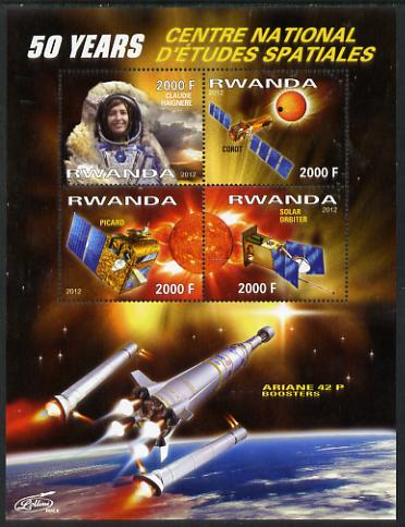RWANDA SHEET SPACE STUDIES COSMONAUTS SATELLITES