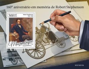 MOZAMBIQUE - 2019 - Robert Stephenson - Perf Souv Sheet - MNH