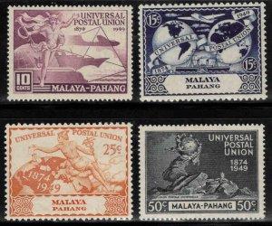 MALAYA-Pahang Scott 44-49 MH* 1949 UPU stamp dry