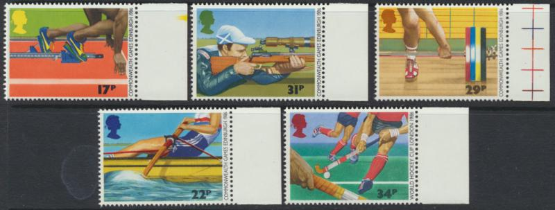 GB SG 1328 - 1332  SC# 1149-1153 Mint Never Hinged - Commonwealth Games Edinb...