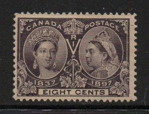 Canada Sc 56 1897 8c dark violet Victoria Jubilee stamp mint