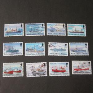 British Antarctic Territory 1993 Sc 202-213 ship set of 12 MNH