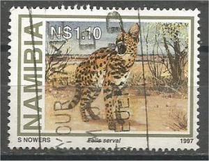 NAMIBIA, 1997, used $1.10 Wild Cats, Scott 827