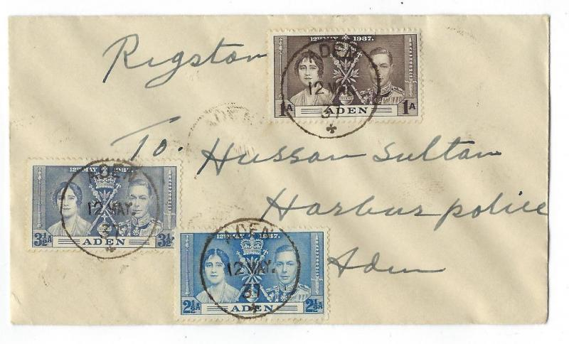 1937 Aden First Day Cover With King George Coronation Set - (RR17)