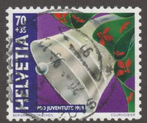 Switzerland stamp, Used, Scott# B634, bell, topical,  #M343