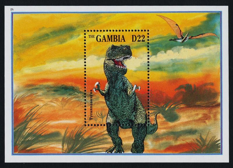 Gambia 1608 MNH Dinosaur, Tyrannosaurus