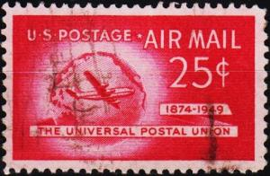 U.S.A. 1949 25c S.G.A986 Fine Used