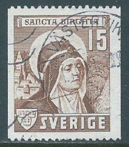 Sweden, Sc #327, 15o Used