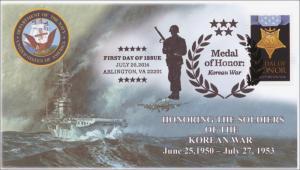 SC 4822a, 2014 Medal of Honor, Korean War, Navy, B/W Pictorial, FDC, Item14-118B