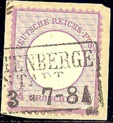 Germany #1 used on piece VF