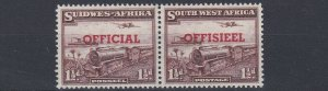 SOUTH WEST AFRICA  1951 - 52    S G 025  1 1/2D   PURPLE BROWN   MNH