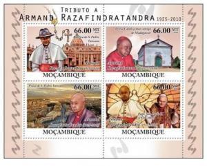 MOZAMBIQUE 2010 SHEET MNH RAZAFINDRATANDRA POPE JOHN PAUL II