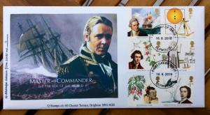 GB first day cover Captain Cook/Endeavour issued 2018..Q Stamps limited edition