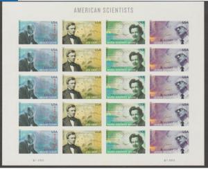 U.S. Scott #4541-4544 AmericanScientist Stamps-UL Plate Position - Mint NH Sheet