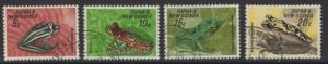 PAPUA NEW GUINEA SG129/32 1968 FAUNA CONSERVATION(FROGS) FINE USED