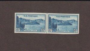 US,761,RARE gummed,MNH VF,LINE PAIR,FARLEY 1935 NATIONAL PARKS,MINT NH