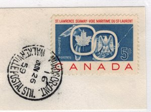 CANADA SCOTT 387 USED ON PIECE FIRST DAY OF ISSUE