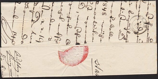 HUNGARY 1851 folded official letter ex UNG:ALTENBURG........................4797