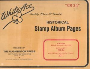 White Ace Canada Regular Issues Singles CR34 Supplement 2011