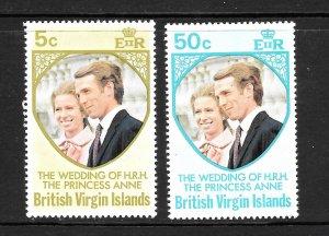 British Virgin Islands  (1973)  - Scott # 260 - 261,