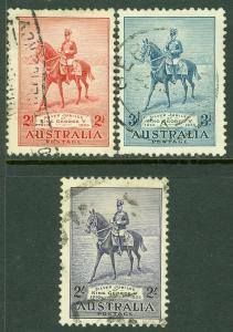 EDW1949SELL : AUSTRALIA 1935 Scott #152-54 Very Fine, Used. Catalog $70.00.