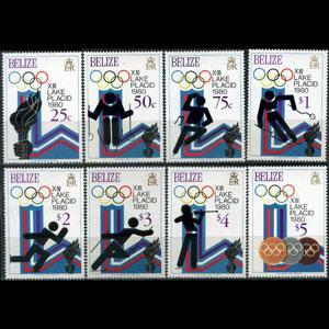 BELIZE 1979 - Scott# 461-8 W.Olympics Set of 8 NH