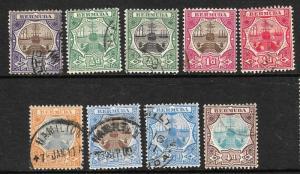 BERMUDA 1906-10 DRY DOCK SET 9 FU  SG34/42