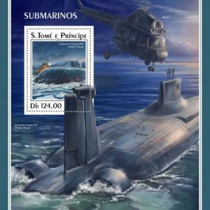SAO TOME - 2018 - Submarines - Perf Souv Sheet - MNH