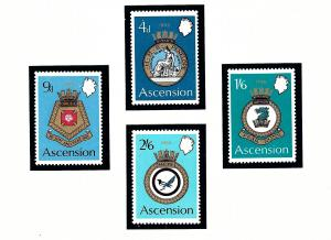 Ascension Is 134-37 MNH 1970 Royal Naval Crests