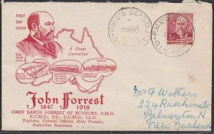 AUSTRALIA 1949 Forrest FDC - PMG's Dept Qld cds............................53794