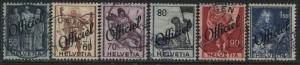 Switzerland Officials 6 overprinted Officiel used (JD)