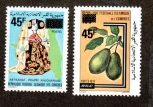 Comoro Islands # 533-534 Mint NH!