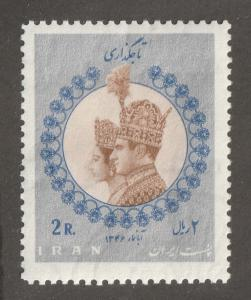 Persia stamp, Scott# 1453, mint never hinged, Shah and Empress Farah, 2R,#G-16