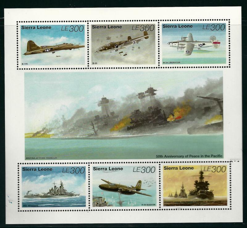 Sierra Leone #1804 Airplane SS  MNH...High Quality Souvenir Sheet!
