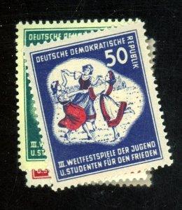 German DDR #85-88 MINT VF LH/HR Cat$45