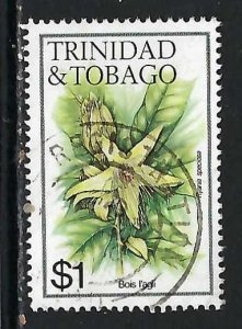 TRINIDAD & TOBAGO 402 VFU FLOWERS V186-3