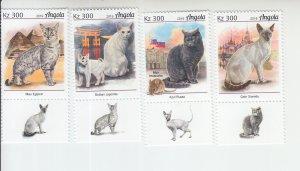 2019 Angola Cats (4) (Scott NA) MNH