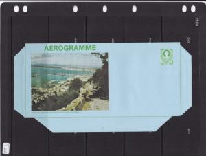 Gibraltar 15p Aerogramme view from North End of Harbour Unused VGC