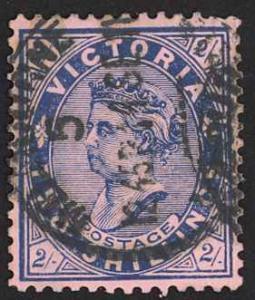 Australia Victoria Sc# 204 Used 1901 2sh blue rose Queen Victoria