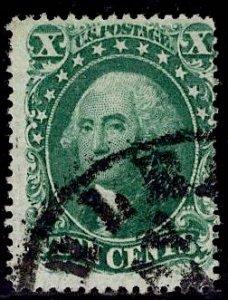 US Stamp #31 10C Washington Type I USED SCV $1100. Freakishly Rich Color.